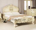 Tempat Tidur Putih Tulang Rococo Boerdeaux
